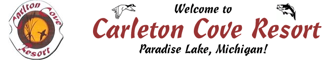 Carleton Cove Resort offers weekly cabin rentals on Paradise Lake, just minutes from Mackinaw City & Mackinac Island.