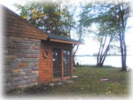 Cabin on Paradise Lake, a few minutes from Mackinaw City, Michigan.